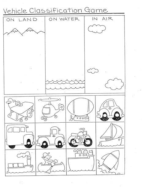 kindergarten activities on transportation transportation ideas for math kindergarten nana
