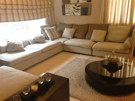 beautiful sofa sets beautiful l shape sofa set side table curtains rug