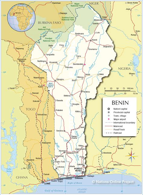 benin on the map nations political map of benin 1200 pixel
