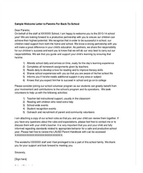 Business Letter Writing For Elementary Students School Letter Templates 8 Free Sle Exle Format Free Premium Templates