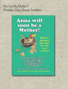 Etsy Book Themed Baby Shower Invitations Book Themed Baby Shower Are You My By