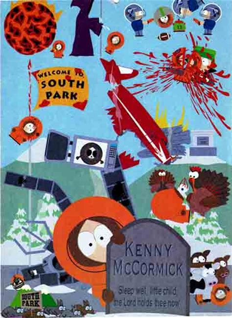 south park kennys death tin sign woodstock trading company