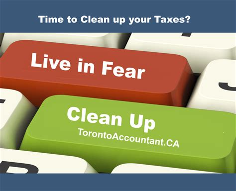 do you need to clean up your tax account
