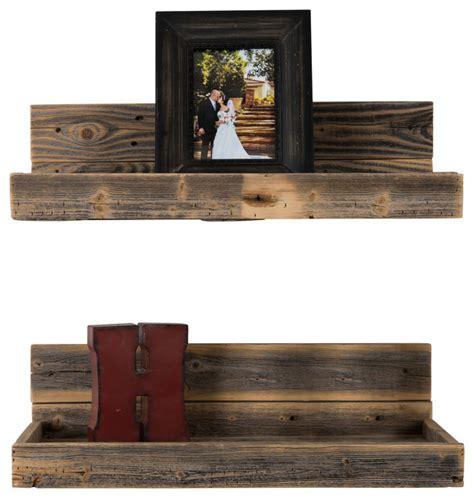 hartland reclaimed wood shelves set   rustic