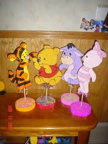decoration winnie set 4 baby winnie the pooh table decorations