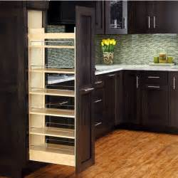 Pull Out Racks For Kitchen Cabinets by Rev A Shelf Tall Wood Pull Out Pantry With Adjustable