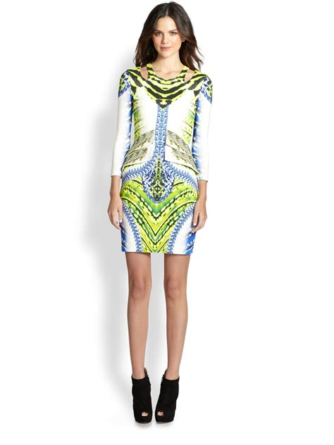 Cavali Dress just cavalli tigerfishprint dress lyst