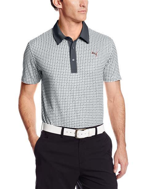 pattern golf shirt puma mens na pattern print golf polo shirts