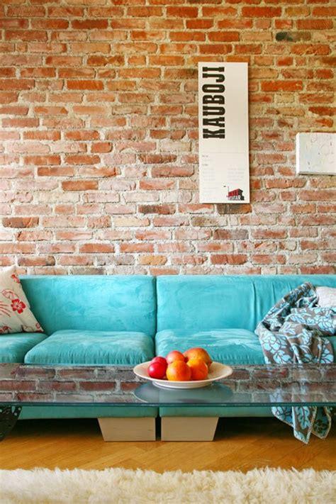 designer living rooms exposed brick walls