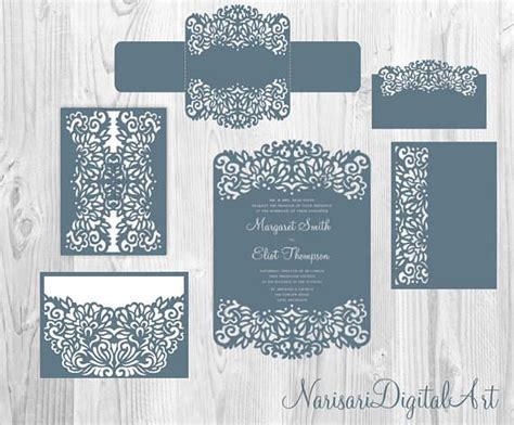 card templates for cricut 110 best images about laser cut wedding invitations on