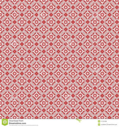 pattern vintage red red and white vintage damask repeat pattern stock photo