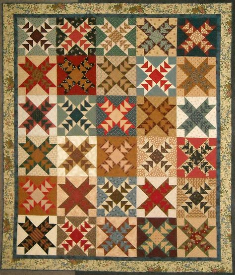 Scrappy Patchwork Quilts - scrappy geese patchwork quilt pdf pattern