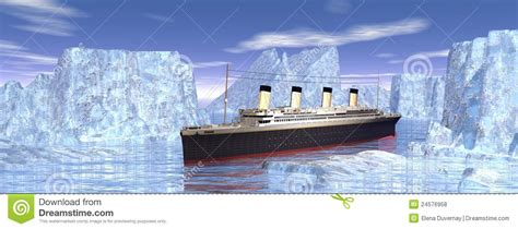titanic boat in water titanic boat royalty free stock photos image 24576958
