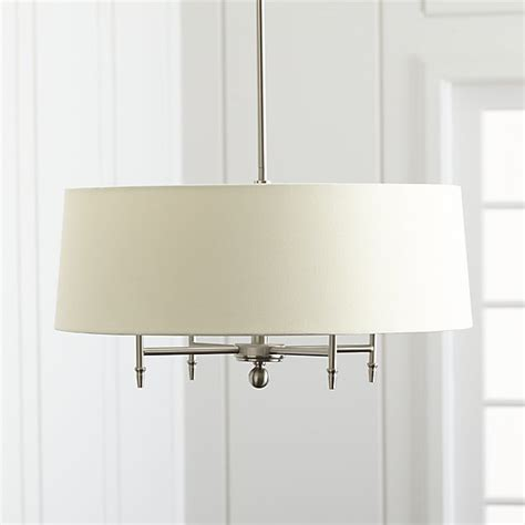 lighting arlington arlington nickel chandelier crate and barrel