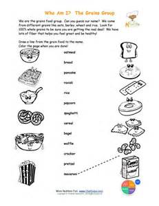 printable match the grains names and color the grains foods