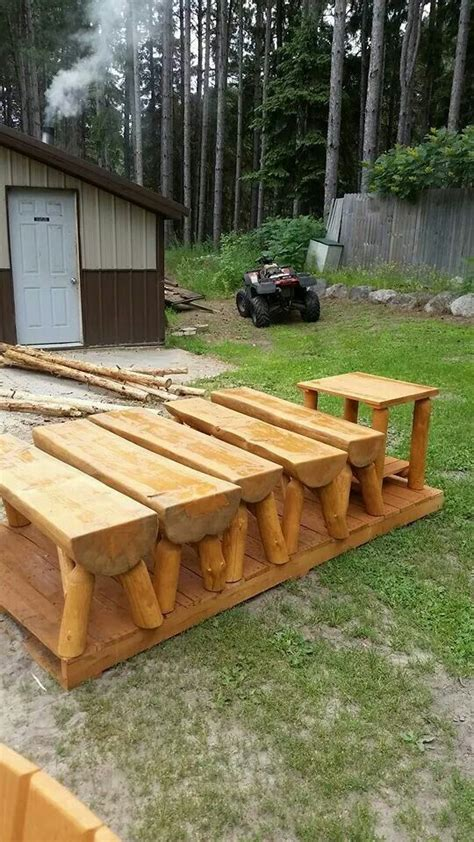 outdoor log bench 38 best images about benches on pinterest diy headboards
