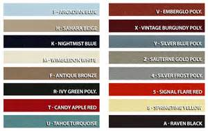 ford interior paint color chart car interior design