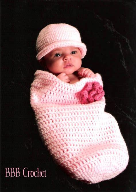 pattern matching head bbb crochet newborn baby cocoon set with matching headband
