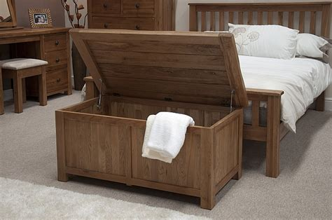 bedroom trunk tilson solid rustic oak bedroom furniture blanket storage
