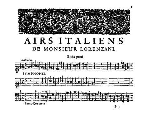 Table Carrée 1695 by Lorenzani Paolo Airs Italiens 1695