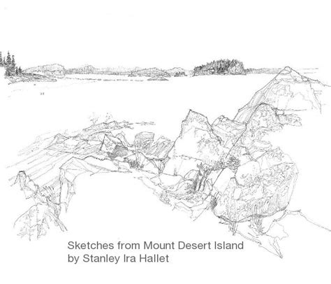 Sketches Ebook by Sketches From Mount Desert Island By Stanley Ira Hallet