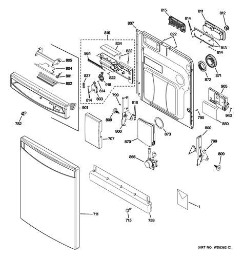 ge profile dishwasher diagram ge dishwasher rack assembly parts model