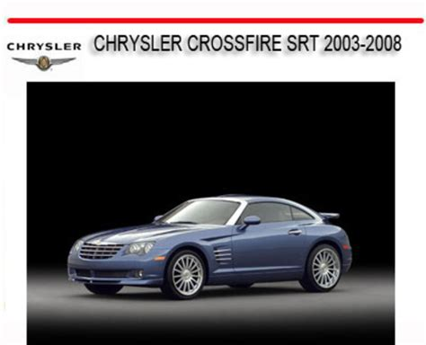 download car manuals pdf free 2008 chrysler crossfire transmission control chrysler crossfire srt 2003 2008 repair service manual download m