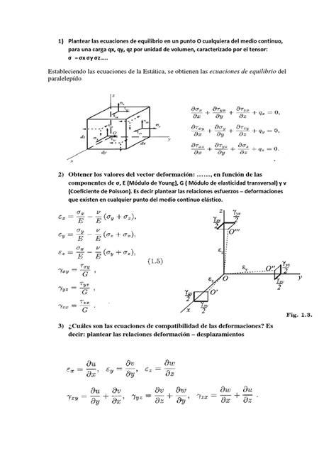 Preguntas de Examen Elementos Finitos | Elasticidad