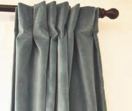 rideaux velours
