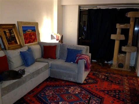 rug ideas     light grey sofa  blue