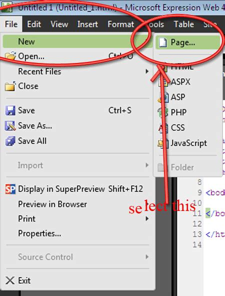 Creating Templates In Expression Web 4 Templates For Microsoft Expression Web 4