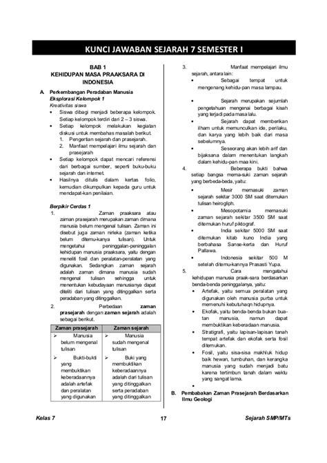 Ensiklopedi Hewan Hewan Purba kunci dan perangkat sejarah smp kelas 7