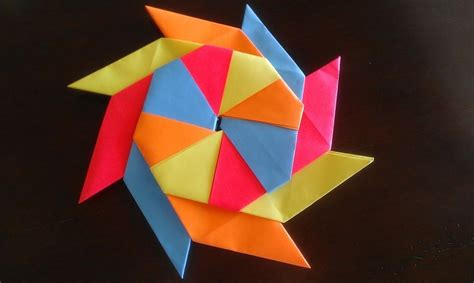 How To Make A Origami Shuriken - paper crafts