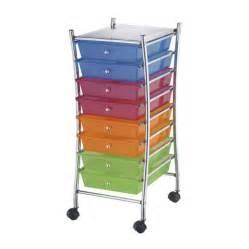 darice 174 8 drawer rolling craft cart