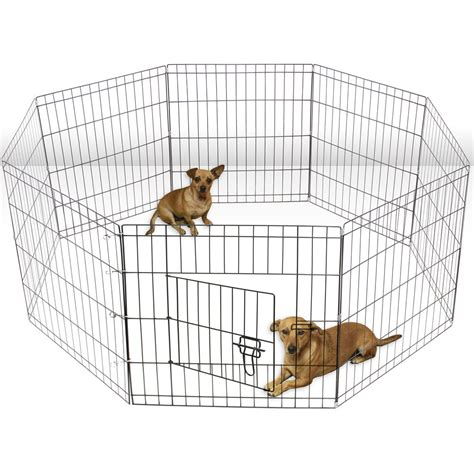 puppy playpen oxgord wire fence pet cat folding exercise yard 8 panel metal play pen ebay