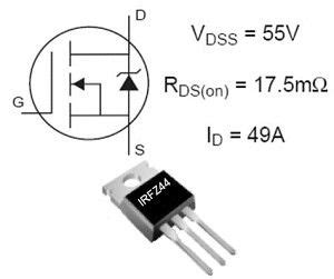 transistor mosfet rfp50n06 irfz44 to 220 49a 55v sản phẩm linh kiện điện tử thiết bị điện th 212 ng minh