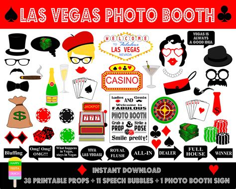 free printable casino photo booth props printable las vegas photo booth propsphoto booth