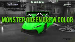 gta 5 best modded crew color 1 green hd