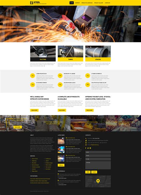 templates for industrial website industrial responsive website template 57623