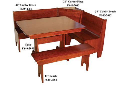 corner bench tables economy breakfast nook set ohio hardword upholstered