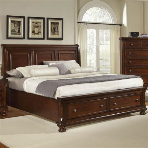 sleigh headboard king vaughan bassett reflections king storage bed with sleigh