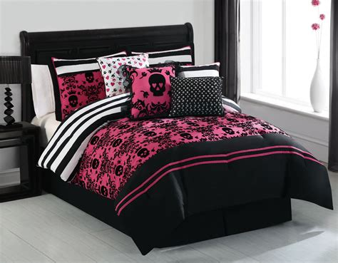 pink and black comforter sets 28 images 7 embroidered