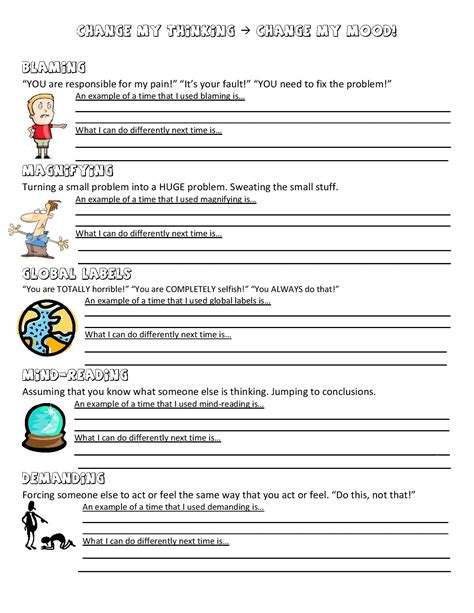Anger Management Worksheets For Adults by Anger Management Worksheet City School Counselor