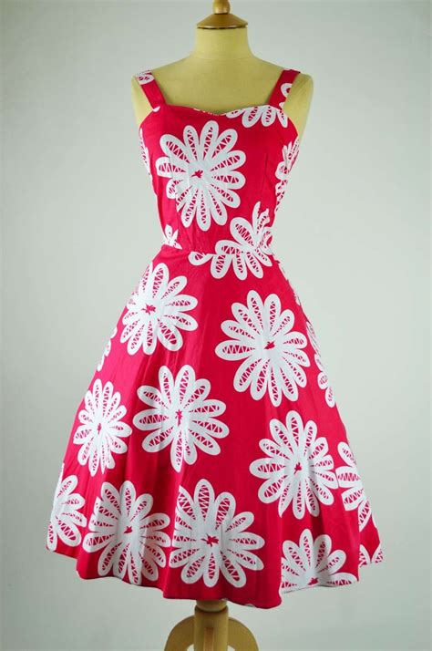 1950s 60s vintage dress white daisies with bolero