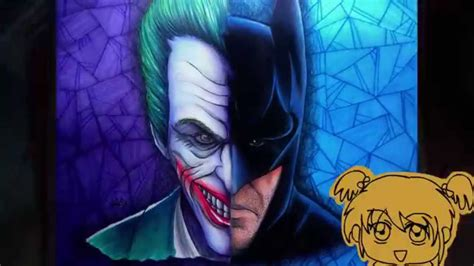 imagenes de joker y batman dibujo no 2 batman joker coloring process youtube