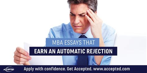 Earn Mba For Free by Mba Essays That Earn An Automatic Rejection Accepted