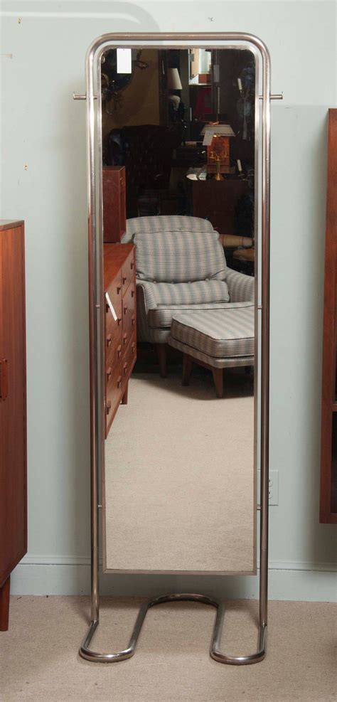 fitting room mirrors deco dressing room mirror and stool by louis sognot at 1stdibs