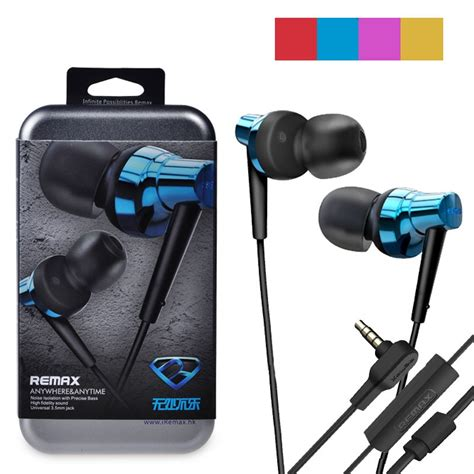 Remax Rm 575 Pro Earphone Blue original remax rm 575 precise bass headset blue pink golden