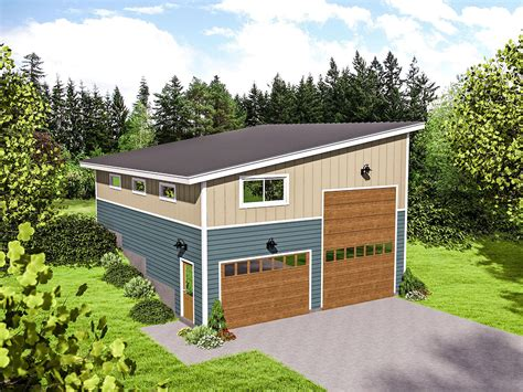 Rv Garage Plans With Apartment by Plan 68491vr Rv Garage For An Up Sloping Lot Rv Garage
