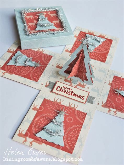 explosion box card tutorial the dining room drawers christmas trees pop stand